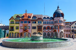 Europe square in Komarno Stock Photos