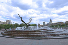 Europe Square in Moscow, near the Kiev railway station in Moscow Stock Photo