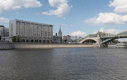 Europe Square and Moscow river Stock Image