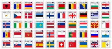 Europe stamps Stock Photos