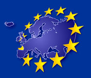 Europe with stars stock illustration