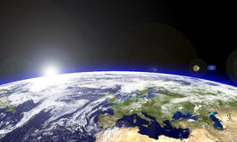 Europe from the stars. Europe seen from the space Royalty Free Stock Photos