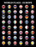 Europe states flags Royalty Free Stock Photos