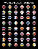 Europe states flags Royalty Free Stock Photos