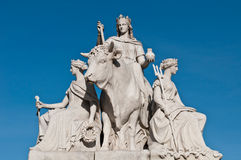 Europe statue in Albert Memorial Royalty Free Stock Image