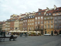 Europe street poland. Place area square Royalty Free Stock Images