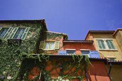 Europe style house colourful in blue sky Stock Image