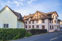 Europe,Switzerland, Interlaken -September 28,Residential buildings in Switzerland, 2015 Royalty Free Stock Image