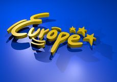 Europe symbol Royalty Free Stock Photos