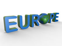 Europe text illustration Stock Photo
