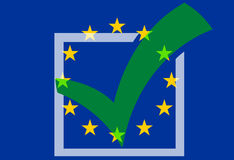 Europe Tick Check Design Royalty Free Stock Photography