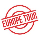 Europe Tour rubber stamp Stock Image