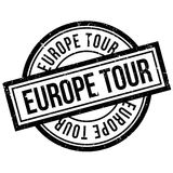 Europe Tour rubber stamp Royalty Free Stock Image
