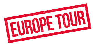 Europe Tour rubber stamp Royalty Free Stock Photography