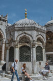 Europe Tourists inside mosque Royalty Free Stock Photo