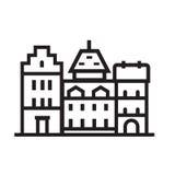 Europe Townt House Emblem Stock Image