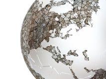 Europe on translucent Earth Royalty Free Stock Image