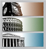 Europe travel banners illustration Stock Photography