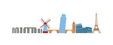 Europe travel vector illustration. Stock Photography