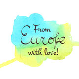 Europe traveling lettering Royalty Free Stock Photos