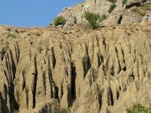 Europe. Ukraine. South Crimea. Cape Meganom. Blurry sandy relief.  stock image