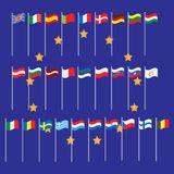 Europe Union countries flags set Stock Images