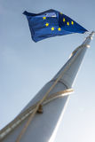 Europe union flag in blue sky Royalty Free Stock Photography