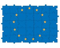 Europe union flag in form of puzzle Stock Photo