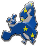 Europe Union Fridge Magnet. European Union Illustrated as a fridge magnet or metal badge Stock Photo