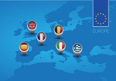 Europe union map flag Royalty Free Stock Photography