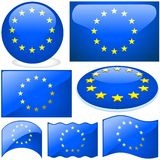 Europe Union Set Royalty Free Stock Photos