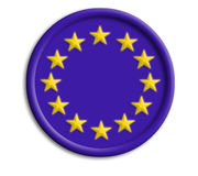 Europe union shield for olympics. Europe union  shield for olympics on white background Stock Photography