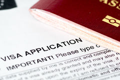 Europe union visa application form Stock Image
