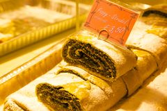 Europe, United Kingdom, England, Lancashire, Manchester, Albert Square, Christmas Market, Poppy Strudel Stock Photos
