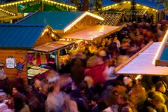 Europe, United Kingdom, England, Lancashire, Manchester, Albert Square, Christmas Market Stock Photography