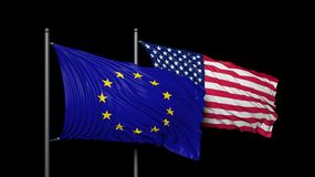 Europe and USA. Relationship between Europe and USA Stock Photo