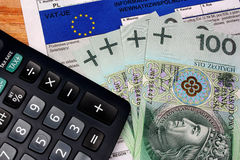 Europe vat tax polish Royalty Free Stock Photo