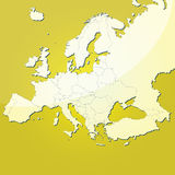 Europe vector map stock illustration