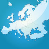Europe vector map. Europe map, Vector map - size and color can be changed Royalty Free Stock Images