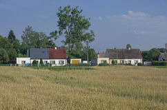 Europe village and grain field. Countryside. Stock Images