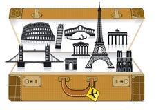 europe walizki podróż Obrazy Stock