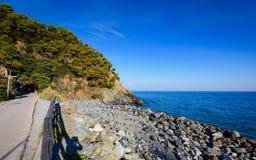 Europe waterfront and ligurian coast Royalty Free Stock Image
