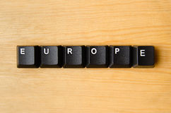 Europe word Royalty Free Stock Photo