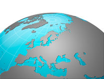 europe ziemska planeta Obrazy Stock