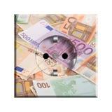 European AC electrical socket. With euros design Stock Image