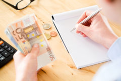 European Accountant at Work Royalty Free Stock Images
