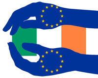 European aid for Ireland Royalty Free Stock Image