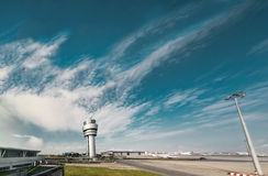 European airport extra wide angle Royalty Free Stock Photography