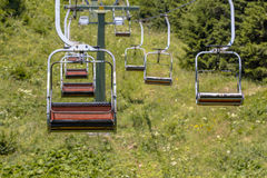 European Alpine Chairlift Royalty Free Stock Image