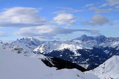 European Alps. Skiing Region Arlberg. Vorarlberg. Austria Stock Photos
